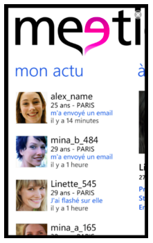 Application gratuite: Meetic choisit Windows Phone 7